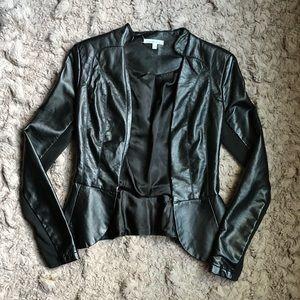 Black Faux Leather Blazer  🖤